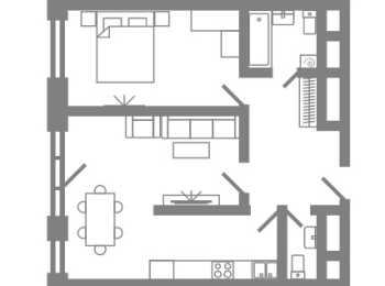 планировка 2-комнатной квартиры